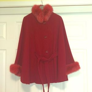 Martoni Fashions Red Fox Fur Cape